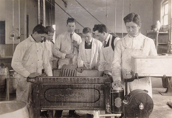 Students in the Creamery, circa 1930s